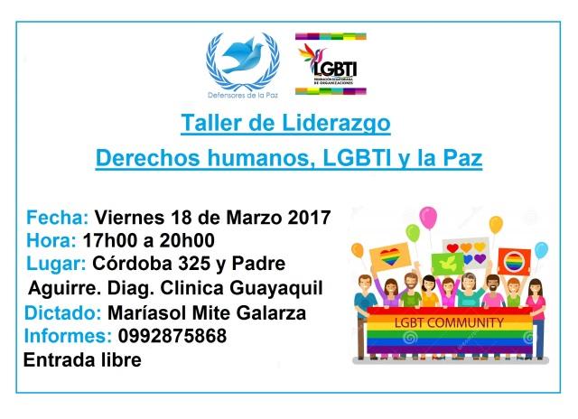 Taller de Liderazgo LGBTI - Defensores de la Paz
